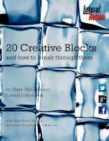 Creative Blocksand how to break through them by Mark McGuinness pdf