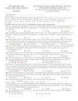 ĐỀ THI KSCL THI ĐẠI HỌC NĂM 2011 LẦN THỨ 1 ĐỀ THI MÔN HOÁ HỌC KHỐI A,B - THPT Thuận Thành II Mã đề 175 pot