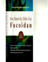 Sức mạnh kỳ diệu của Fucoidan pdf
