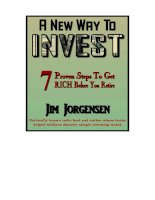 A New Way To INVEST7 Proven Steps To Get RICH ppt