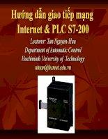 Hướng dẫn giao tiếp mạng Internet & PLC S7-200 potx