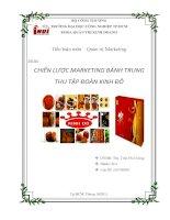 Chiến lược marketing bánh trung thu tập đoàn kinh đô pot