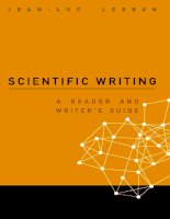 JEAN - LUC LEBRUN SCIENTIFIC WRITING A READER AND WRITER'S GUIDE doc