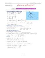Chuyên đề hình học không gian (Huỳnh Chí Hào)