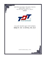 Tài liệu hướng dẫn thực hành: Điện tử công suất pptx