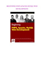 BEGINNING PHP5.APACHE.MYSQL WEB DEVELOPMENT ppt