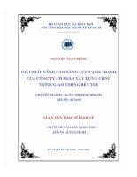 Đề tài: GIẢI PHÁP NÂNG CAO NĂNG LỰC CẠNH TRANH CỦA CÔNG TY CỔ PHẦN XÂY DỰNG CÔNG TRÌNH GIAO THÔNG BẾN TRE pot