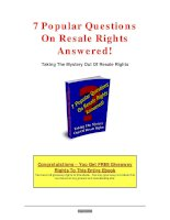 7 Popular Questions On Resale Rights Answered doc