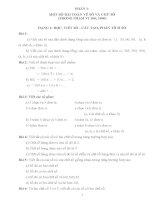 Một số bài toán về số và chữ số ( trong phạm vi 100, 1000) docx