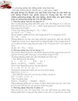 11 phương pháp cân bằng phản ứng hóa học pdf