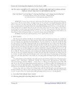 Báo cáo khoa học: Bước đầu nghiên cứu phổ gốc trong hệ phổ kế gamma bằng thuật toán ML-EM và mô phỏng MCNP potx