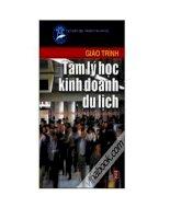 Giáo trình tâm lý học kinh doanh du lịch pdf