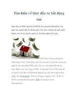 Tìm hiểu về Quỹ đầu tư bất động sản ppt