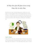 14 Mẹo đơn giản để giảm stress trong công việc và cuộc sốngKhởi đầu làm ppt