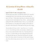 Bỏ Symbian để dùng iPhone: những điều cần biết ppt