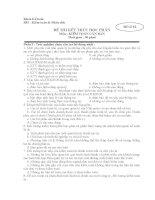 Đề thi Kiểm toán căn Bản-Đề số 2 doc