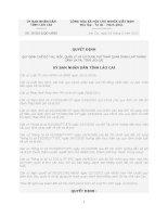 Quyết định Số: 39/2012/QĐ-UBND QUY ĐỊNH CHẾ ĐỘ THU, NỘP, QUẢN LÝ VÀ SỬ DỤNG PHÍ THAM QUAN DANH LAM THẮNG CẢNH SA PA, TỈNH LÀO CAI ppt