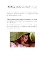 Bán hàng tốt nhờ hiểu tâm lý trẻ con? potx