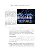 5 Tips for Creating a Team Building Culture at Work pdf