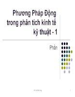 Phương pháp động trong phân tích kinh tế kỹ thuật - 1 ppt