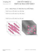 Truyền nhiệt   CVI Truyền nhiệt và thiết bị trao đổi nhiệt