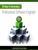 10 Steps to Becoming a Professional Software Engineer ppt