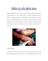 Điều trị sốt phát ban pptx