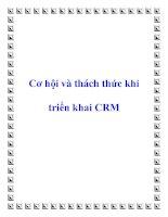 Cơ hội và thách thức khi triển khai CRM pdf