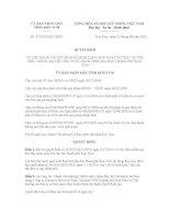 Quyết định Số: 37/2012/QĐ-UBND VỀ VIỆC BÃI BỎ QUYẾT ĐỊNH SỐ 26/2012/QĐ-UBND NGÀY 24/7/2012 VỀ VIỆC ĐIỀU CHỈNH GIÁ TIÊU THỤ NƯỚC SẠCH TRÊN ĐỊA BÀN THÀNH PHỐ KON TUM pdf