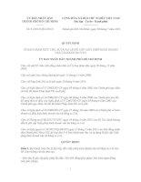 Quyết định Số: 31/2012/QĐ-UBND VỀ BAN HÀNH MỨC THU, SỬ DỤNG LỆ PHÍ CẤP GIẤY PHÉP KINH DOANH VẬN TẢI BẰNG XE Ô TÔ pptx