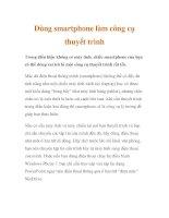 Dùng smartphone làm công cụ thuyết trình pdf