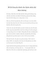 10 lời khuyên dành cho bệnh nhân đái tháo đường pdf