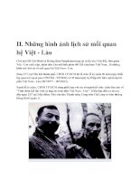 II .Những hình ảnh lịch sử mối quan hệ Việt - Lào ppt