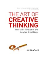 THE ART OF CREATIVE THINKING How to be Innovative and Develop Great Ideas pdf