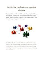 Top 10 nhân vật cần có trong mạng lưới công việc potx