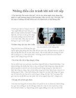 Những điều cần tránh khi nói với sếp pdf