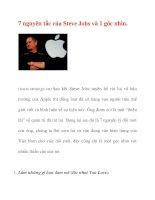 7 nguyên tắc của Steve Jobs và 1 góc nhìn doc