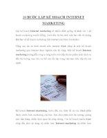 10 BƯỚC LẬP KẾ HOẠCH INTERNET MARKETING pdf