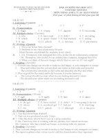 Đáp án kiểm tra học kì 1 môn tiếng anh lớp 10- ban căn bản 2010-2011 -Thpt Ngô Quyền pot