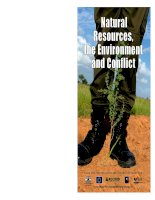 Natural Resources, the Environment and Conflict pptx