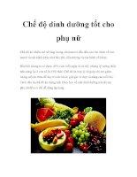 Chế độ dinh dưỡng tốt cho phụ nữ docx