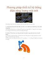 Phương pháp thiết kế hệ thống điện năng lượng mặt trời doc