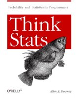 Probability and Statistics for Programmers.Think StatsProbability and Statistics for ppt