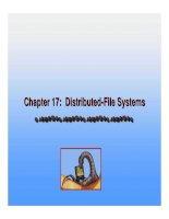 Operating System Concepts - Chapter 17: Distributed-File Systems doc
