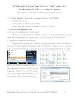 Hướng dẫn cài đặt phần mềm V.EMIS Version 1.2.0 trong hệ điều hành Windows 7 ( 32 BIT) pot