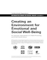 Creating an Environment for Emotional and Social Well-Being ppt