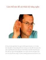 Làm thế nào để cải thiện kỹ năng nghe pptx