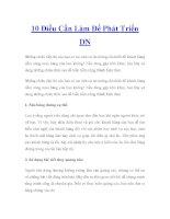 10 Điều Cần Làm Để Phát Triển DN pdf