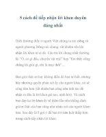 5 cách để tiếp nhận lời khen duyên dáng nhất pdf
