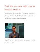 Thách thức cho doanh nghiệp trong thị trường bán lẻ Việt Nam docx